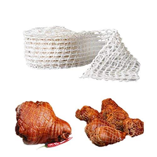 LJSLYJ Baumwolle elastisch Fleischnetz Metzger Netz Schinken Bratstrings Wurst Rollnetz Hot Dog Netz Fleischverpackungswerkzeuge