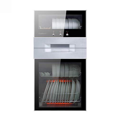 MXRqndqa Wärmegeräte Desinfektionsschrank Heim vertikales Geschirr Schrank Sideboard kleines Mini Hochtemperatur Desinfektion Edelstahl Schrank (Farbe : SCHWARZ)