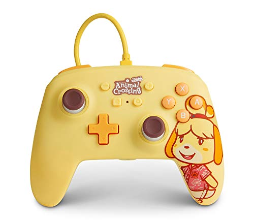 PowerA Enhanced Wired Controller for Nintendo Switch - Animal Crossing: Isabelle, Nintendo Switch Lite, Gamepad, Game Controller, Wired Controller, Officially Licensed - Nintendo Switch