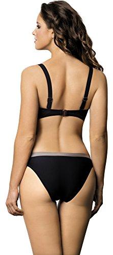 Lorin Bikini a Balconcino Set per Donna L2073/6 (Nero (Modello-v3), EU(Coppa 75 F / 38)=IT(2F/44))