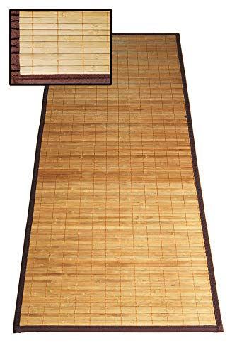 thesecrethome.es Alfombra Pasillo DE Bambu 67 x 250 cm MARRÓN para DECORACIÓN