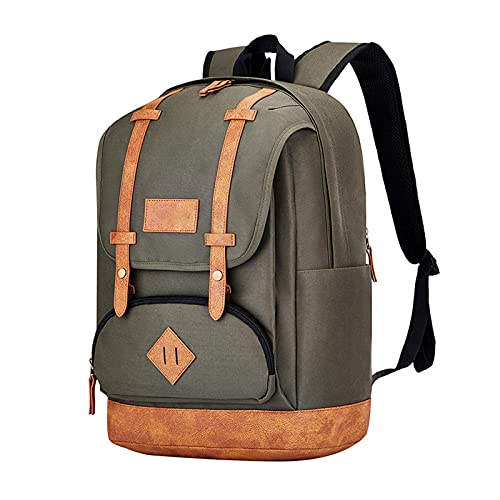 Mochila ultraligera plegable, pequeña resistente al agua, para viajes, senderismo, mochila de gran capacidad, color verde