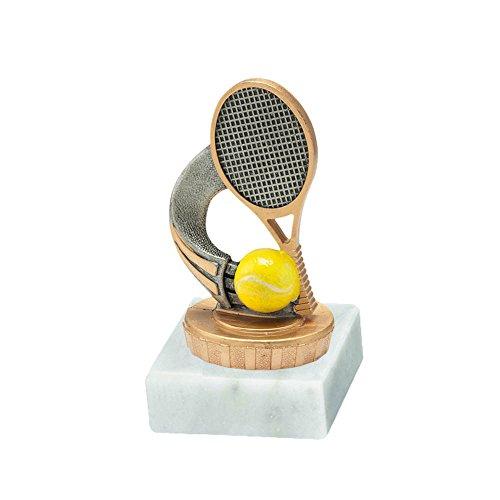 RaRu Tennis-Pokal mit Wunschgravur und Resin-Klebefigur