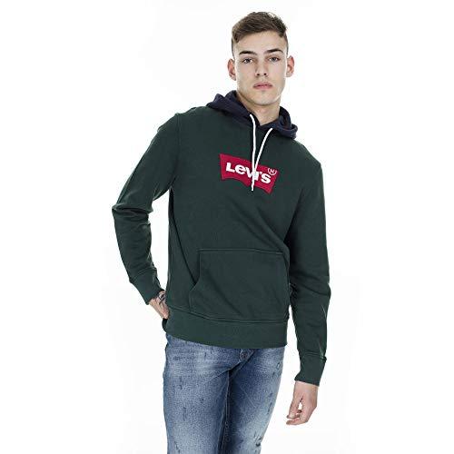 Levi's Heren Moderne trui met capuchon, Groen