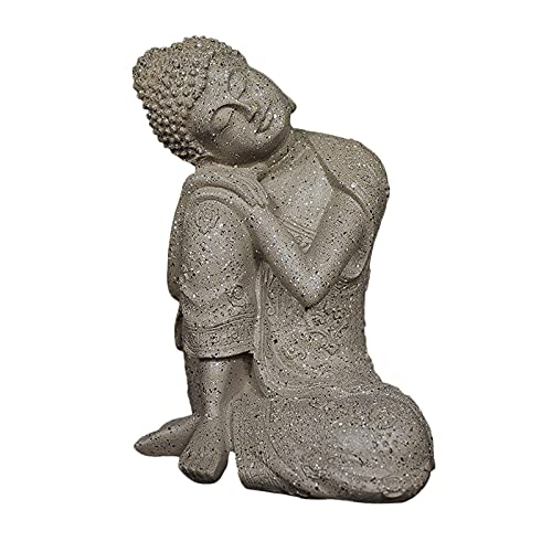 Baoblaze Resting Thai Buddha Statues Collecitble Napping Figurine Patio Hand Carved Home Office Tabletop Cabinet Countertop Porch Hill Art Decors