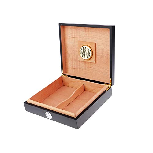 SMEJS Portátil Cedar humidor de Puros W/humidificador higrómetro Caja de cigarros con el Caso del Dispositivo medidor de Humedad hidratante