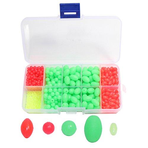Croch 700 Stück Perlen für Angeln, 5 Verschiedene Größe, Leuchtperlen (Grün)