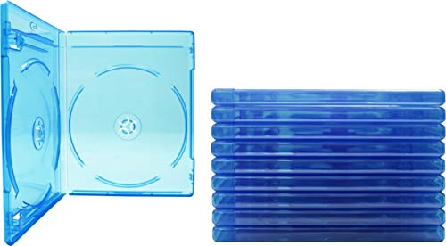 (10) Empty Standard Double Blue Replacement Boxes/Cases for Blu-Ray Disc Movies BR2R12BL