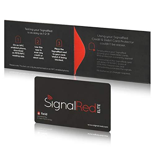 Preisvergleich Produktbild Kreditkartenschutz - 1 RFID Blocking Karte schirmt die RFID / NFC Signale von Kreditkarten und Reisepässen ab; passt in Geldbörse und Handtasche