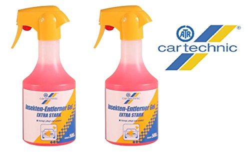PRAKTISCHES SET 2 x 500 ml CARTECHNIC EXTRA STARKER Insektenreiniger Insekten Reiniger Insektenentferner Scheibenreiniger Lackreiniger GEL