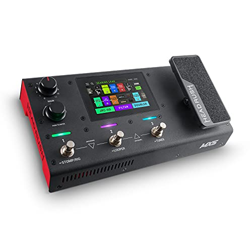 HeadRush MX5 - Procesador de modelado de amplis y efectos de guitarra, pantalla táctil 4 , pedal de expresión, looper e interfaz de audio USB