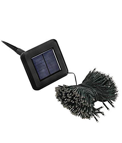 Dehner Solar Lichterkette, 400 LED, Länge 41 m, Leuchtdauer bis 6 Std, Kunststoff