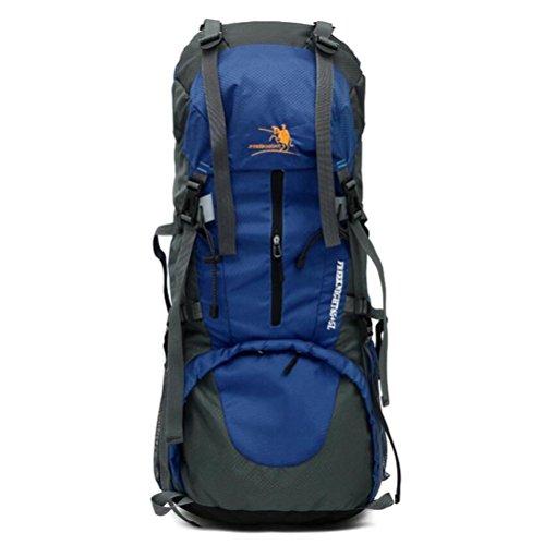 60L extérieur alpinisme Sac à dos de randonnée Tourisme Sac à dos Professional , blue