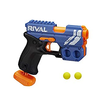 NERF Rival Knockout XX-100 Blaster -- Round Storage 90 FPS Velocity Breech Load -- Includes 2 Official Rival Rounds -- Team Blue