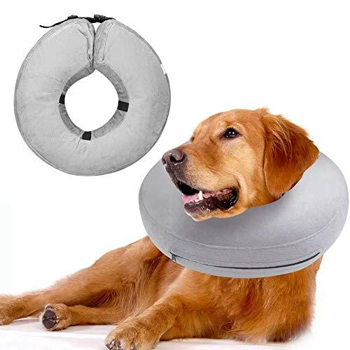 Ong Collar de recuperación para Mascotas, Elizabeth Circle, lesión por mordedura, Ajustable, cómodo, portátil para Perros(L)