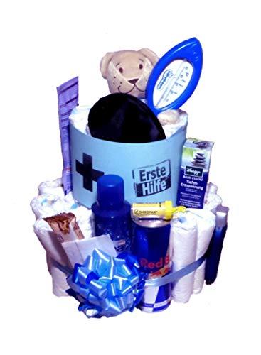 Windeltorte für Papa´s | Erste - Hilfe - Torte | Das Geschenk zur Geburt & Taufe