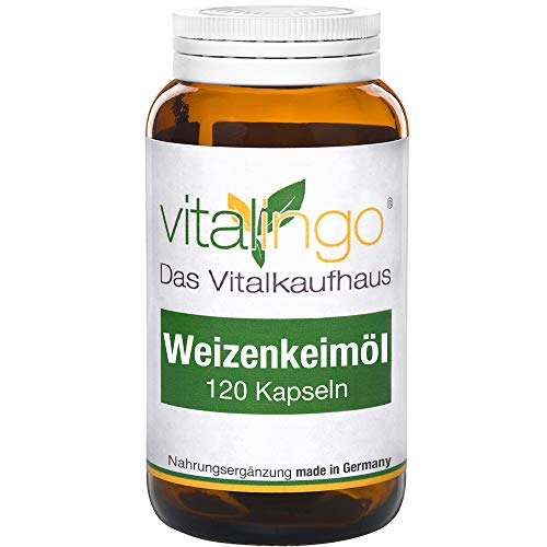 Weizenkeimöl Kapseln vitalingo - kaltgepresst, hochdosiert - enthält Spermidin, Omega 3, Omega 6,...
