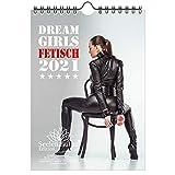 Calendario de pared 2021 (14,8 x 21,0 cm) chica fetiche erótica sexy Fetisch Girls - Contenido del set de regalo: 1x calendario, 1x tarjeta de Navidad y 1x tarjeta de felicitación (3 partes en total)