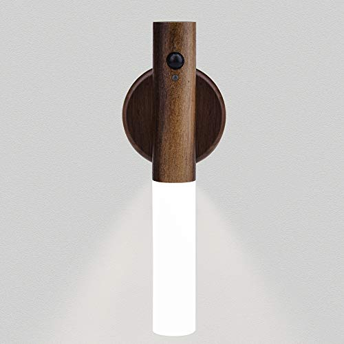 Sensor de Luz LED, Luz Nocturna LED con Sensor Movimiento inalámbrico, Luz Sensor para Armario USB Recargable Para Dormitorios Pasillos Armarios Escaleras Sótanos Garajes