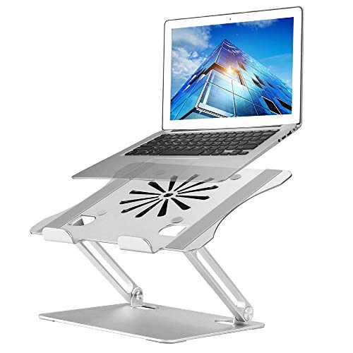 """Upgraded Adjustable Laptop Stand with Cooling Fan, Aluminum Multi-Angle Computer Laptop Stand, Portable Laptop Holder Compatible with MacBook, Air, Pro, Dell XPS, Alienware All Laptops 11-17.3"""""""