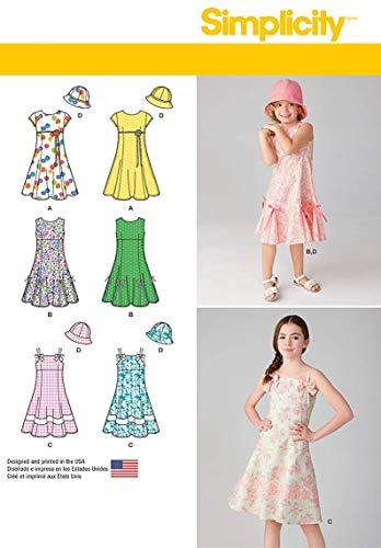 Simplicity Schnittmuster 7785.k5Mädchen Kleid mit Hut