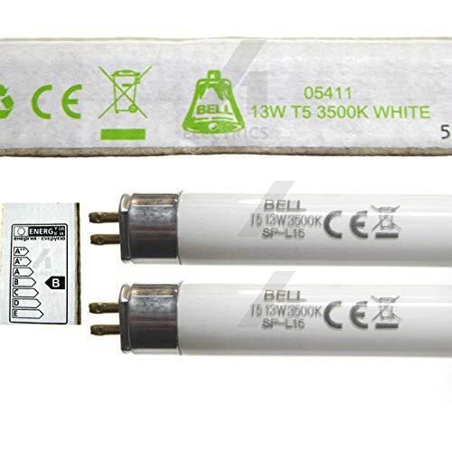 Leuchtstoffröhre 05411, 13 W, T5, 525 mm, Weiß, 3500 K, G5 Sockel, 13 W, Glockenbeleuchtung, 2 Stück