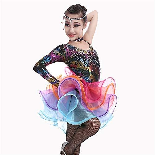 Jianghuayunchuanri Mädchen tanzen Kleid Rock Latin Kostüm Latin Dance Kostüm-Leistungs-Wettbewerb National Standard Backless Partei-Tanz-Kleid-Elegante perfekte Figur Latin Tango Ballsaal