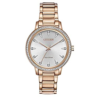 Citizen Watches Women's FE7043-55A Silhouette Crystal Rose Gold Tone One Size