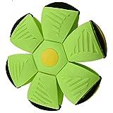 Magic Flying Saucer Ball, Juguete Para Niños Frisbee Foot Deformation Deportes Al Aire Libre Bola De Platillo Volador, Regalos De Entretenimiento Al Aire Libre Para Niños Con Luces Led (green)