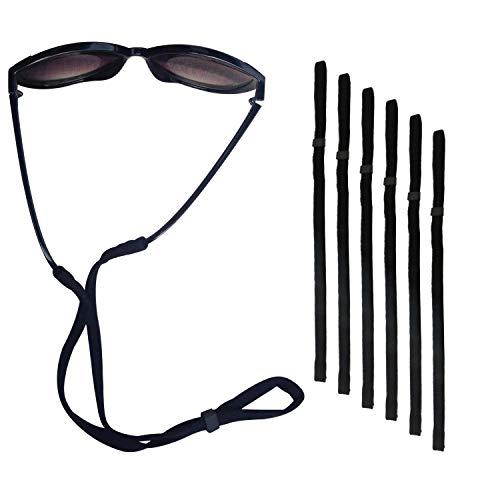 Philonext 6 Pcs Deportes gafas de sol soporte correa, Universal Fit cuerda retención, sistema de retención de gafas, gafas negro