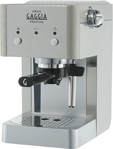 Gaggia RI8427/11 GranGaggia Prestige - Macchina da Caffè Espresso Manuale, per Macinato e Cialde, Argento