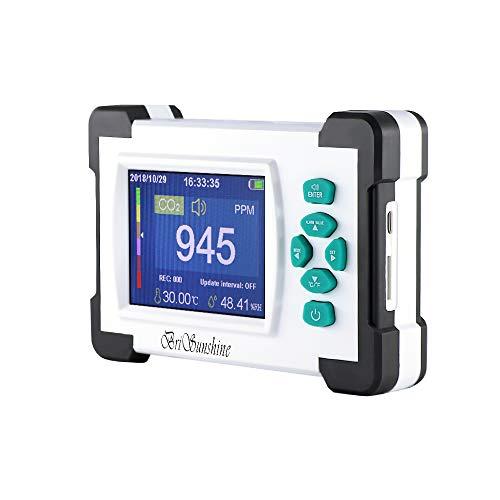 Kohlendioxid Tester Detektor, Tragbares CO2-Messgerät Meter für Luftqualität, Temperatur und Feuchtigkeit(mit Handbuch auf Deutsch)