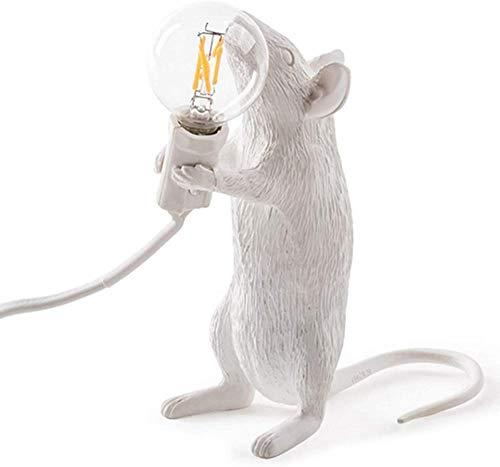 Lámpara de mesa de ratón de resina moderna lámpara de mesa de rata Led escritorio decoración de habitación de regalo para niños luces de noche Led rata de pie