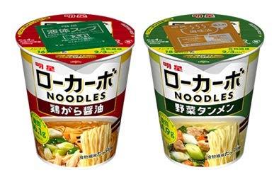明星食品 低糖質麺 ローカーボNoodles 2種類各6食入り 1箱:12食入り ナポリ付き