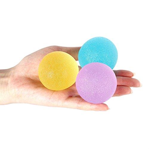 Mano de PVC de masaje bola del ejercicio Punto Pelota de ejercicio port/átil de mano Alivio Fisioterapia Yoga de la bola de Formaci/ón bola del apret/ón de verde