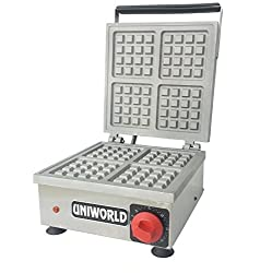 Uniworld Stainless Steel Commercial Waffle Maker's photo