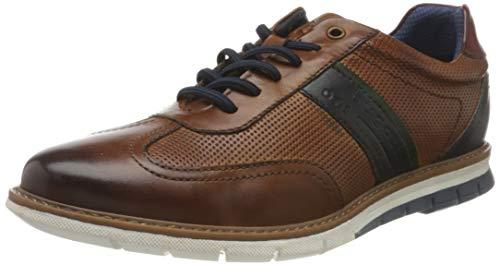 bugatti Herren Sandman Sneaker, Cognac, 40 EU
