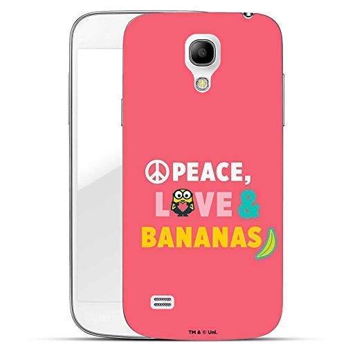 Hülle für Samsung Galaxy S4 - Minions Handyhülle mit Motiv und Optimalen Schutz Tasche Case Hardcase Cover Schutzhülle - Peace Love Bananas