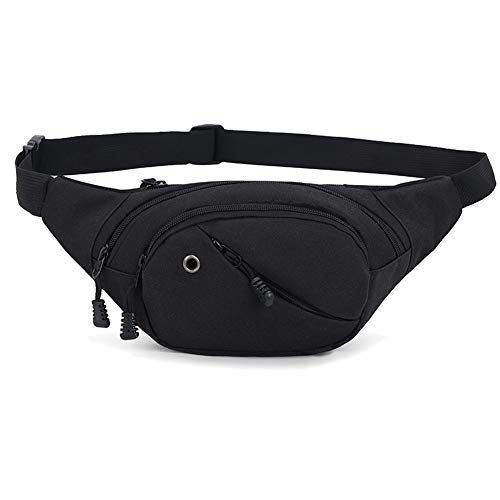 Ausion Fanny Pack Bag, Super Large Capacity Chest Waist Bag Hip Bum Pack with Earphone Hole Crossbody Backpack for Outdoors Workout Traveling Casual Running Hiking Cycling, Fits Men Women,