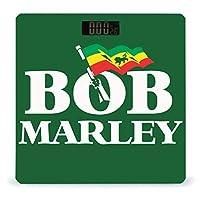 BOB MARLEY 体重計 デジタル 電子スケール ヘルスメーター 電源自動ON/OFF バックライト付き 高精度ボディースケール コンパクト 電池式 薄型 収納便利 体重管理
