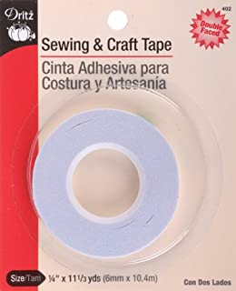 Dritz PRY-402 402 Sewing & Crafting Tape, 6 mm x 10.4M, 1/4