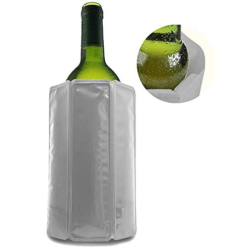 Enfriador De Botellas De Vino, Bolsa Para Botellas De Vino Con Cierre De Velcro Ajustable, Enfriador Rápido Para Vitrinas De Vino Activas Para Vino O Champán