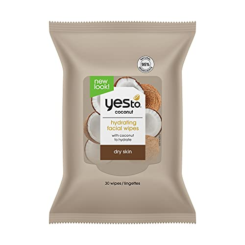 Yes To, Coconut Cleansing Wipes, Cleanse and Moisturize, Removes Makeup, 30 Wipes Duo Pack