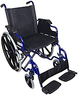 Mobiclinic, modelo Giralda, Silla de ruedas plegable, ortopédica, para minusválidos, reposapiés y reposabrazos extraíbles,...