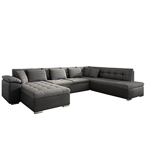 Eckcouch Ecksofa Niko Bis! Design Sofa Couch! mit Schlaffunktion und Bettkasten! U-Sofa Große Farbauswahl! Wohnlandschaft vom Hersteller (Ecksofa Links, Soft 020 + Majorka 03)