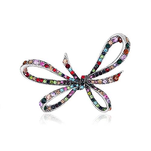 CXSD Broche vintage de diamantes de imitación de moda de mariposa combinada con oro de lujo broche de diamante personalizado accesorio broche