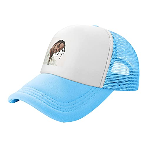 P&P Children's Mesh Hat Children's Travis Scott Trucker Hats Sky Blue