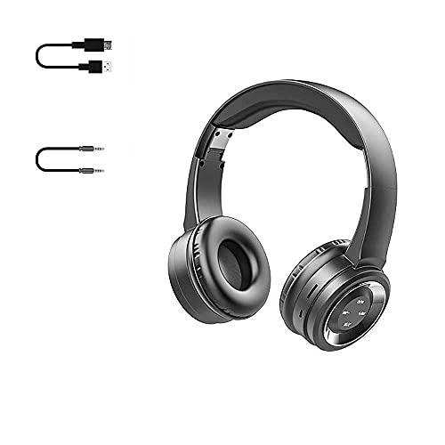 Auriculares para Juegos inalámbricos, Auriculares de Juego de Sonido Envolvente con micrófono de cancelación de Ruido Bluetooth Auriculares Plegables para PC PS4 Cambiar, etc....