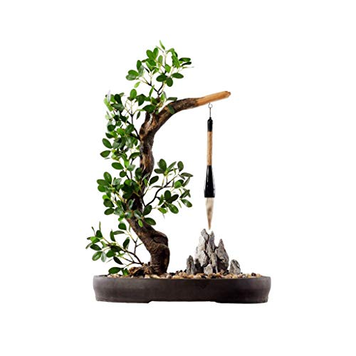 Artificial Árboles Zen chino artificial cedro, Clubhouse Hotel Tea House Plant Simulation la decoración del hogar, de estilo japonés Muerto Árbol artificial Árbol artificial Bonsai Bonsai artificial q
