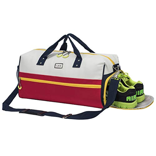Kuston Sports Gym Bag with Shoes Compartment Travel Duffel Bag for Men&Women